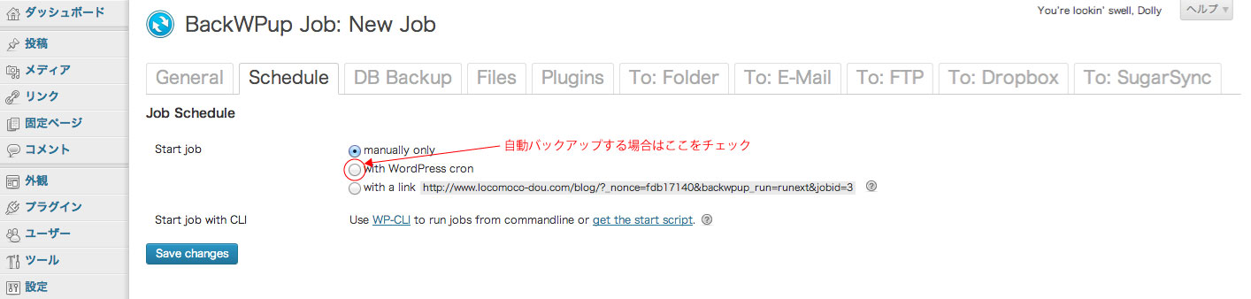 BackWPUpバージョン3の新しいJobの設定方法・スケジュールを設定する-1
